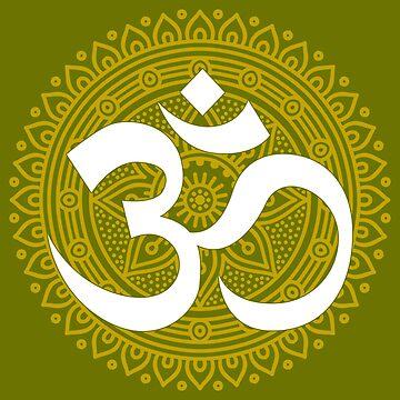 OM Mandala Religious Art by pbng80