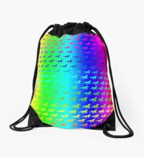 Psychedelic Unicorn Pattern Drawstring Bag