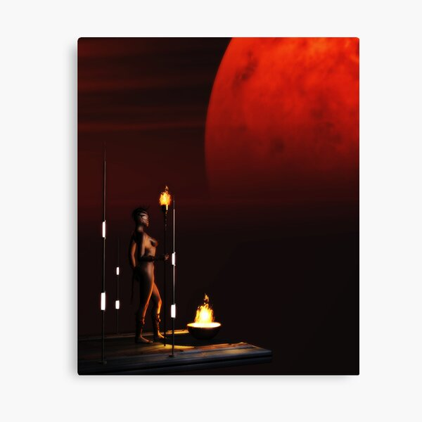 RedMoon Canvas Print
