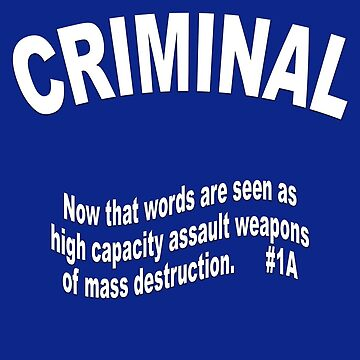 CRIMINAL now that words are seen as assault weapons of mass destruction by LisaRent