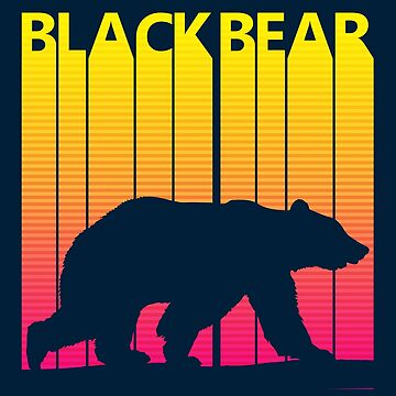 Retro 1980s Black Bear by polveri