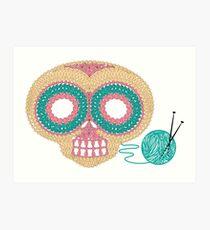 Crochet Skull Art Print