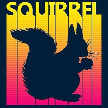 Retro 1980s Squirrel by polveri