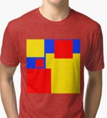 Modern Style Colour Blocks Primary Colours Tri-blend T-Shirt