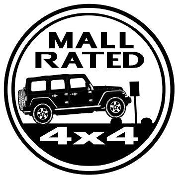 Mall Rated Jeep Wrangler Unlimited by IntrepiShirts