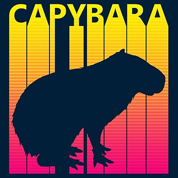 Retro 1980s Capybara by polveri