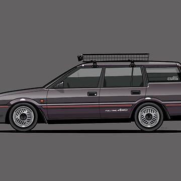 Retronics Garage's Toyota AE95 Corolla 4WD Wagon by monkeycom