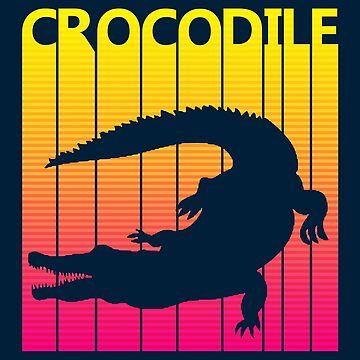 Retro 1980s Crocodile by polveri