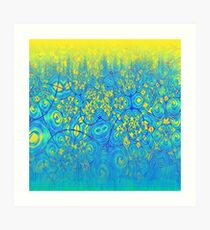 Abstract meadow Art Print