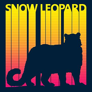 Retro 1980s Snow Leopard by polveri