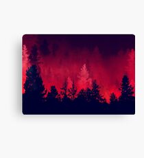 Red Wilderness  Canvas Print