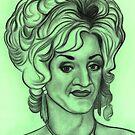 Paul O'Grady as Lily Savage celebrity portrait by Margaret Sanderson
