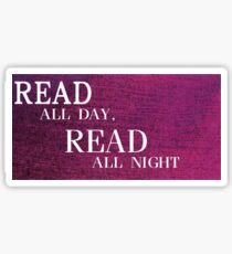 Read All Day Sticker