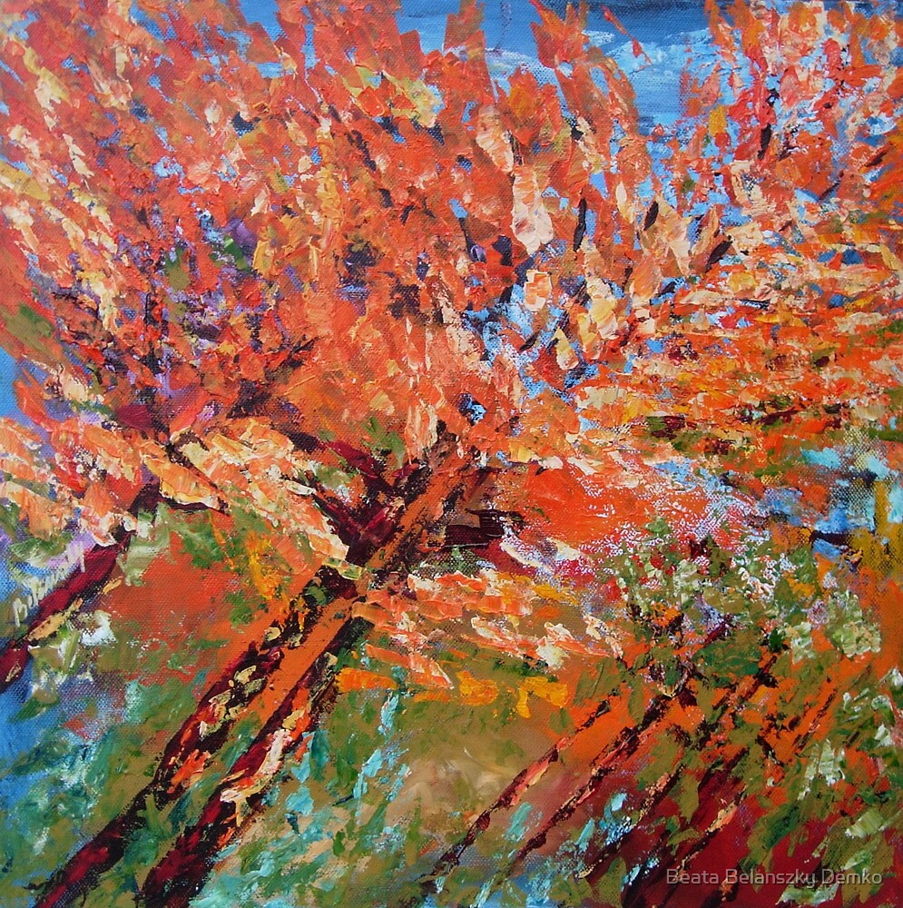 Peach blooming by Beata Belanszky Demko