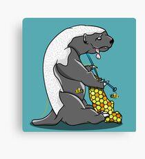 Honey badger knitting Canvas Print