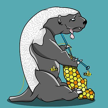 Honey badger knitting by piedaydesigns