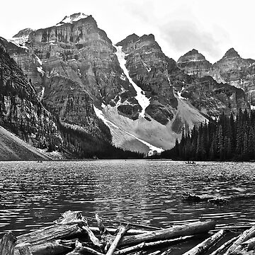 Moraine Lake in Black and White by LindaB