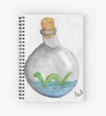 Nessie in a bottle Spiral Notebook