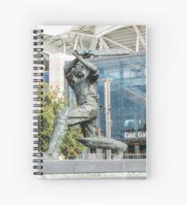 Don Bradman - Statue - Adelaide Oval Spiral Notebook