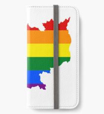 LGBT Flag Map of Cambodia  iPhone Wallet/Case/Skin