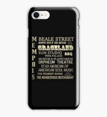 Memphis Tennessee Famous Landmarks iPhone Case/Skin