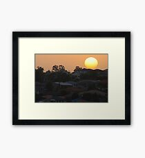 Sunset over the suburb Framed Print