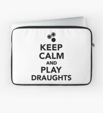 Keep calm and play draughts Laptop Sleeve