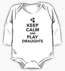 Keep calm and play draughts One Piece - Long Sleeve