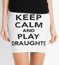 Keep calm and play draughts Mini Skirt
