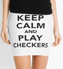 Keep calm and play Checkers Mini Skirt