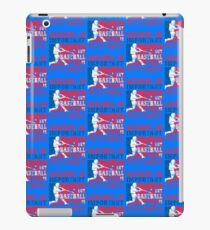 School Is Important But Baseball Is Importanter distressed iPad Case/Skin