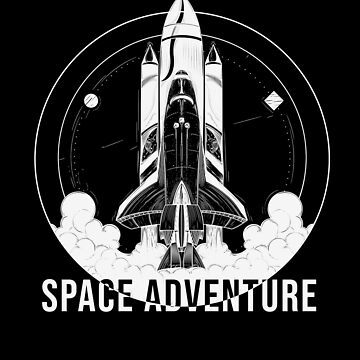 Rocket Launch Outer Space Adventure Astronaut by TomGiantDesign