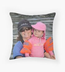 Bronte and Mummy Throw Pillow