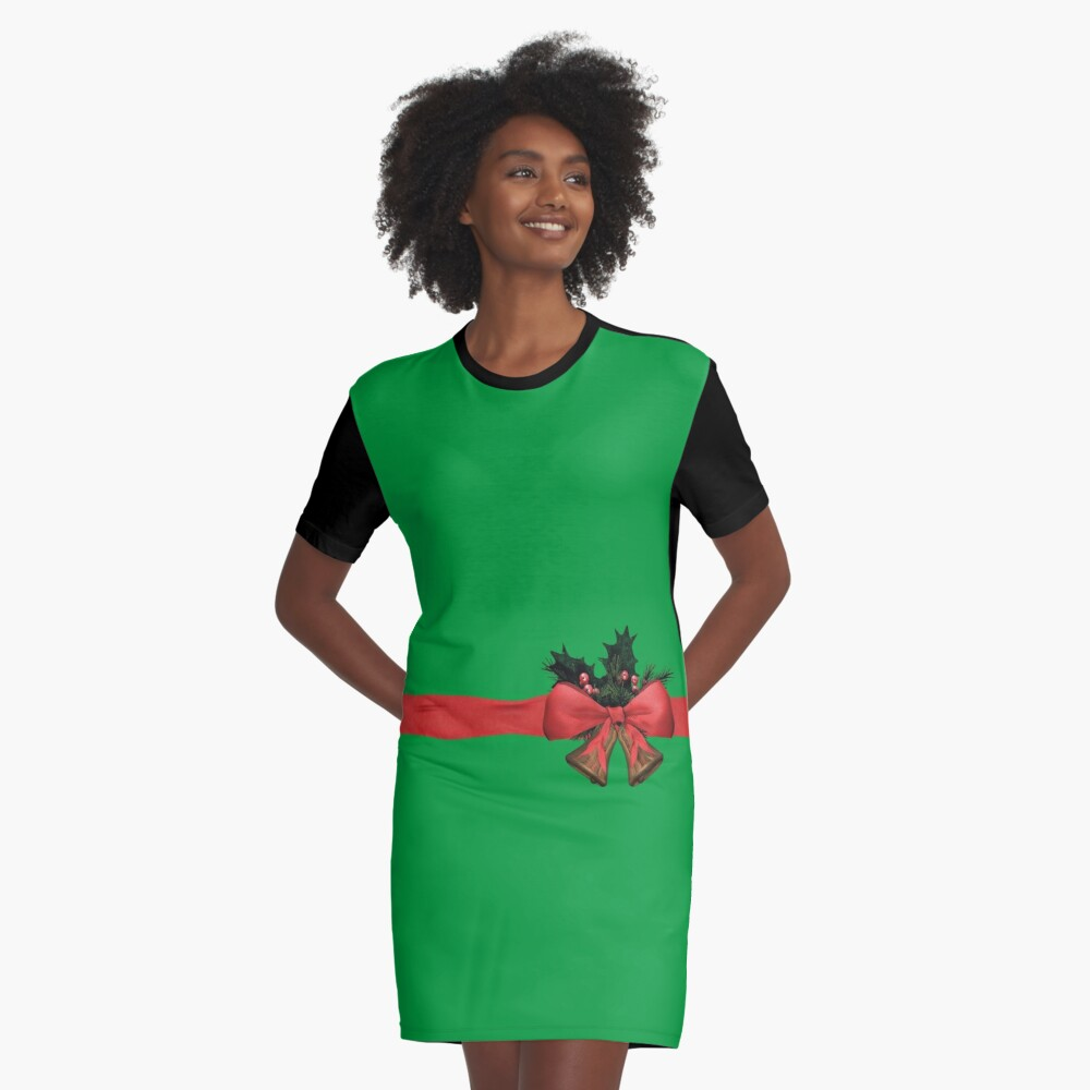 xmas gift Graphic T-Shirt Dress Front