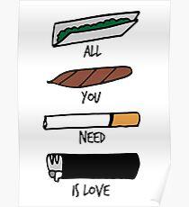 Póster Todo lo que necesitas es amor