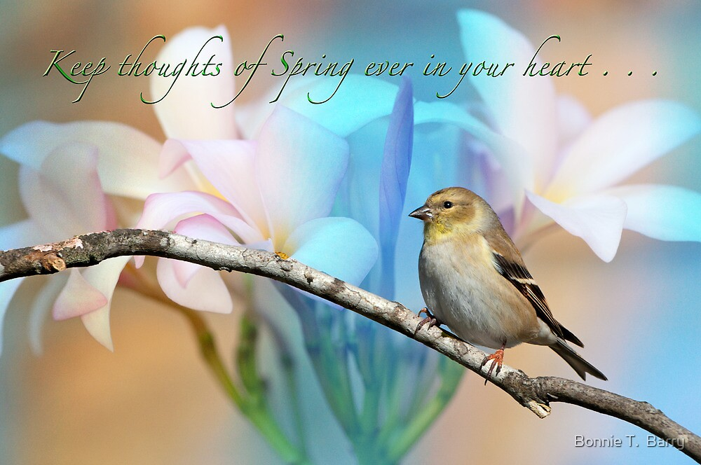 Keep thoughts of Spring ever in your heart . . . by Bonnie T.  Barry