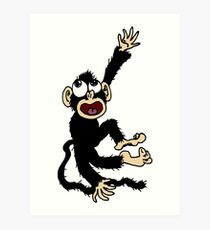 Big Happy Monkey Art Print