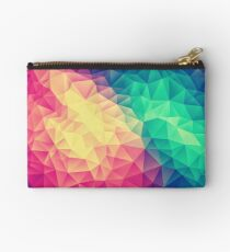 Abstract Polygon Multi Color Cubism Low Poly Triangle Design Täschchen