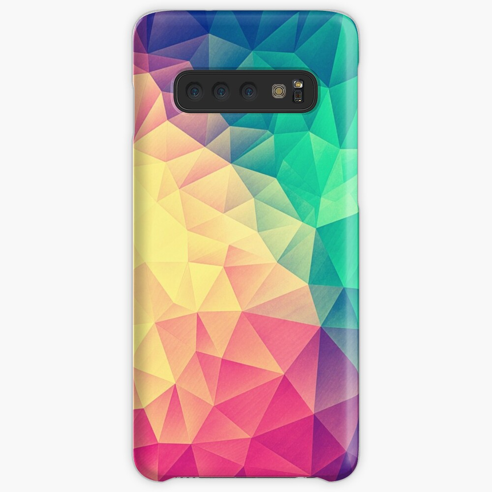 Abstract Polygon Multi Color Cubism Low Poly Triangle Design Case & Skin for Samsung Galaxy