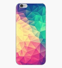 Abstract Polygon Multi Color Cubism Low Poly Triangle Design iPhone Case