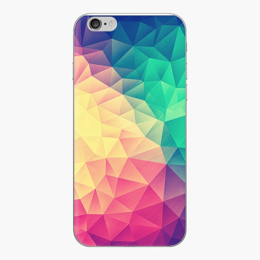 Abstract Polygon Multi Color Cubism Low Poly Triangle Design iPhone Klebefolie