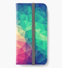 Abstract Polygon Multi Color Cubism Low Poly Triangle Design iPhone Flip-Case/Hülle/Skin