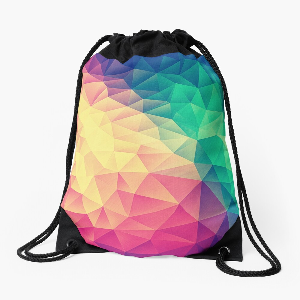 Abstract Polygon Multi Color Cubism Low Poly Triangle Design Turnbeutel