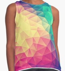 Abstract Polygon Multi Color Cubism Low Poly Triangle Design Kontrast Top