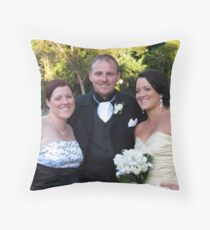 Anne, Brett and Kelly Throw Pillow