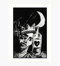 The Drunken Mellancholly King Art Print