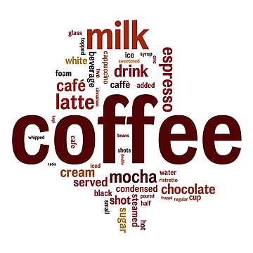 Coffee & Co. Word Cloud by UDDesign
