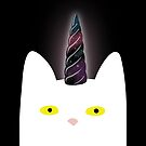 Secrets of the Universe - Cat Unicorn with Galaxy Horn by denisecolgs