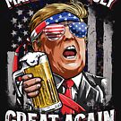 Make 4th of July Great Again T shirt Trump Men Women Beer by LiqueGifts