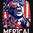 Trump Merica T Shirt 4th of July Men Boys Kids Murica Gifts by LiqueGifts